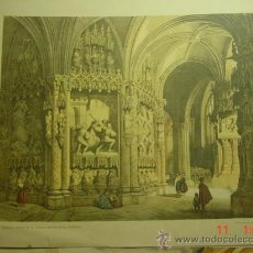 Arte: BURGOS - ABSIDE DE LA CAPILLA MAYOR DE LA CATEDRAL - PRECIOSA LAMINA PARA ENMARCAR - AÑOS 1940. Lote 26073472