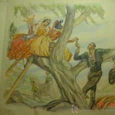 Arte: CHARROS - SALAMANCA - CARLOS SAENZ DE TEJADA - PRECIOSA LAMINA PARA ENMARCAR - AÑOS 1940. Lote 26073672