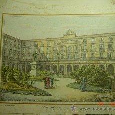 Arte: BILBAO - LA PLAZA NUEVA FINES SIGLO XIX - PRECIOSA LAMINA PARA ENMARCAR - AÑOS 1940/50. Lote 26073848