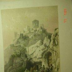 Arte: 49 ALCALA DE GUADAIRA SEVILLA CASTILLO - PRECIOSA LAMINA PARA ENMARCAR - AÑOS 1940/50. Lote 26074061