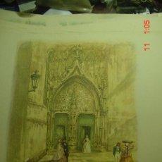 Arte: 59 BILBAO PUERTA DEL ANGEL CARLOS SAENZ DE TEJADA - PRECIOSA LAMINA PARA ENMARCAR - AÑOS 1940/50. Lote 26074483