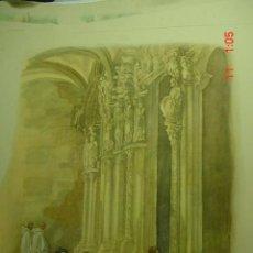 Arte: 60 SANTIAGO DE COMPOSTELA CARLOS SAENZ DE TEJADA - PRECIOSA LAMINA PARA ENMARCAR - AÑOS 1940/50. Lote 26074497
