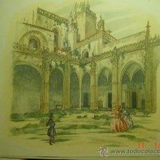 Arte: 61 CARTUJA DE JEREZ CADIZ CARLOS SAENZ DE TEJADA - PRECIOSA LAMINA PARA ENMARCAR - AÑOS 1940/50. Lote 26074513