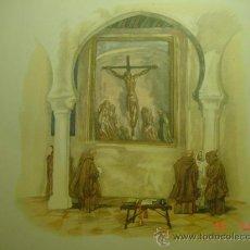 Arte: 62 MONASTERIO DE GUADALUPE CARLOS SAENZ DE TEJADA - PRECIOSA LAMINA PARA ENMARCAR - AÑOS 1940/50. Lote 26074542