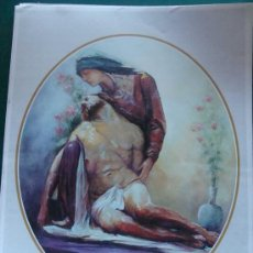 Arte: GRAN LÁMINA RELIGIOSA. PIEDAD. SEMANA SANTA DE MÁLAGA. 29 X 39 CM. . Lote 26091754