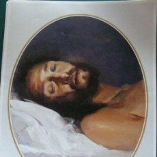 Arte: GRAN LÁMINA RELIGIOSA. CRISTO YACENTE. SEMANA SANTA DE MÁLAGA. 29 X 39 CM. . Lote 26091766