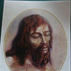 Arte: GRAN LÁMINA RELIGIOSA. DESCENDIMIENTO. SEMANA SANTA DE MÁLAGA. 29 X 39 CM. . Lote 26091829