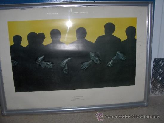 Arte: Rafael Canogar - Lamina enmarcada . Titulo Fraternidad - MUSEO ESPAÑOL DE ARTE CONTEMPORANEO-MADRID - Foto 2 - 27577198