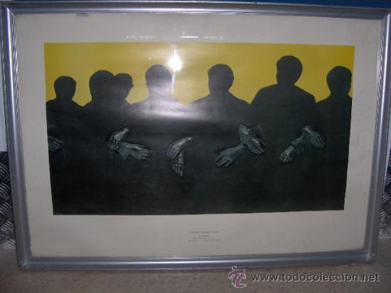 Arte: Rafael Canogar - Lamina enmarcada . Titulo Fraternidad - MUSEO ESPAÑOL DE ARTE CONTEMPORANEO-MADRID - Foto 4 - 27577198