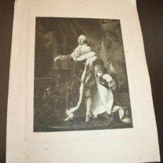 Arte: LÁMINA SOBRE CARTÓN REPRODUCCIÓN DE LUIS XVI DE ANTOINE FRANÇOIS CALLET - MEDIDAS 35 X 27 CM.. Lote 26260600