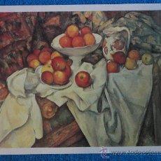 Arte: LAMINA NATURALEZA MUERTA CON MANZANAS. CEZANNE. COLECC. EL MUNDO DE LOS GRANDES GENIOS.ORBIS-FABBRI. Lote 27569447