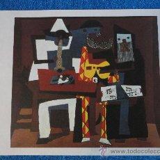 Arte: LAMINA DE TRES MUSICOS. PICASSO. COLECCIÓN EL MUNDO DE LOS GRANDES GENIOS. ORBIS-FABBRI. Lote 27637687
