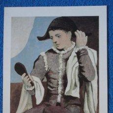Arte: LAMINA DE ARLEQUIN CON ESPEJO. PICASSO. COLECCIÓN MUSEO THYSSEN BORNEMISZA. EL PAIS. Lote 27593887