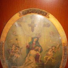Arte: VIRGEN DE LA DOLOROSA DE CARTAGENA 0,55X0,65 (1920-1940). Lote 26325581
