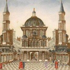 Arte: 1750C - VISTA DEL TEMPLO DE SANTA SOFIA - GRABADO ILUMINADO. Lote 26707200