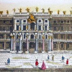 Arte: 1750C - EL PALACIO DEL REY DE PRUSIA EN BERLIN - GRABADO ILUMINADO. Lote 26735641