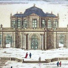 Arte: 1750C - CASTILLO SAN ILDEFONSO DE MADRID - GRABADO ILUMINADO. Lote 26735700