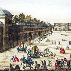 Arte: 1750C - PLAZA DE LA CARRIERE DE NANCY - GRABADO ILUMINADO. Lote 26739514
