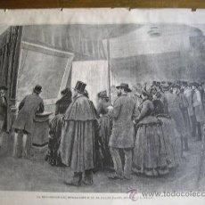Arte: LAMINA REVISTA ILUSTRACION ARTISTICA AÑO 1886..LA EXPOSICION DEL SPOLLARIOUM EN EL SAL..ENVIO GRATIS. Lote 27009902