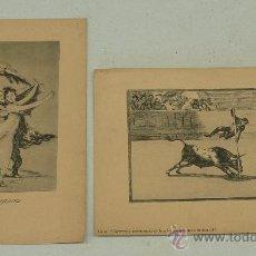 Arte: LOTE DE 2 LAMINAS DE CAPRICHOS DE GOYA. . Lote 27067523