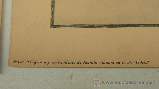 Arte: lote de 2 laminas de caprichos de Goya. - Foto 3 - 27067523