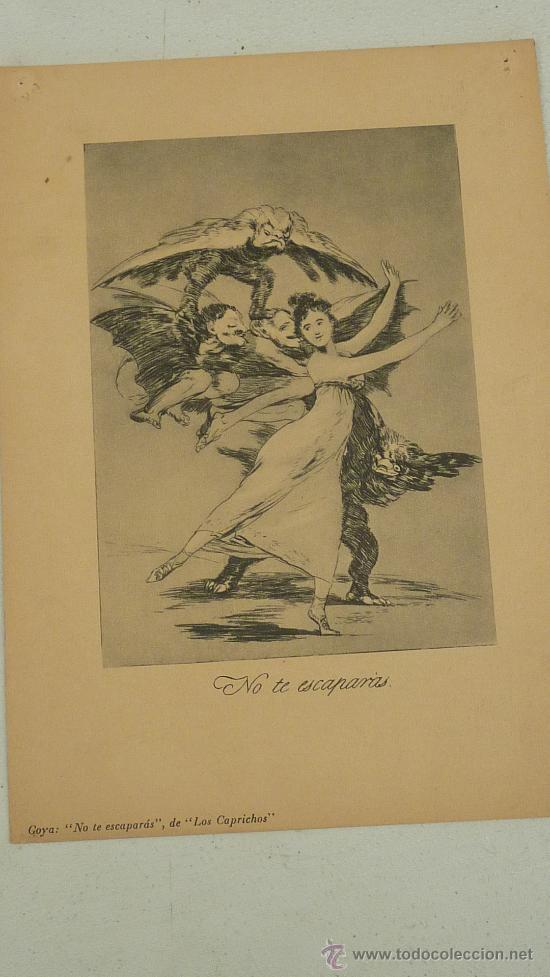 Arte: lote de 2 laminas de caprichos de Goya. - Foto 4 - 27067523