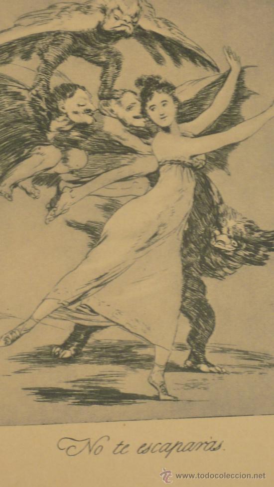 Arte: lote de 2 laminas de caprichos de Goya. - Foto 5 - 27067523