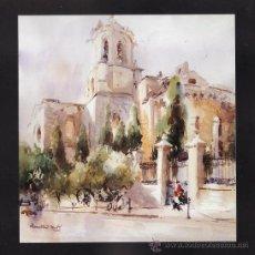 Arte: MINI LAMINA - ENMARCADA EN CARTULINA - CATEDRAL / LA CAPONA - TARRAGONA - AUT. ILEGIBLE - TGN. Lote 27375981