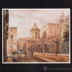 Arte: MINI LAMINA - ENMARCADA EN CARTULINA - CATEDRAL LATERAL CLAUSTRE - TARRAGONA - AUT. ILEGIBLE - TGN. Lote 27376013
