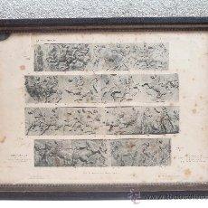 Arte: FRISOS DEL PARTENÓN - LÁMINA FRANCESA 1914 - MARCO DE ÉPOCA DE 56 X 41 CM. Lote 27526884