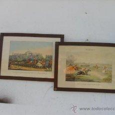 Arte: 2 CUADROS CON LAMINAS Y MARCOS INGLESES. Lote 27726637