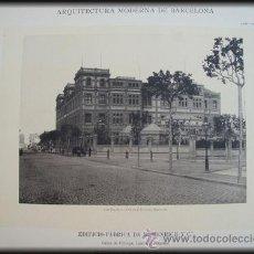 Arte: ARQUITECTURA MODERNA DE BARCELONA - EDIFICIO FÁBRICA DE M.HENRICH Y Cª EN CALLES CÓRCEGA. 1897. Lote 27855311