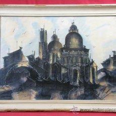 Arte: VISTA VENECIA AÑOS 50 EN CERA.. Lote 27952674