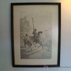 Arte: LAMINA Y CUADRO DON QUIJOTE Y SANCHO PANZA. Lote 28061055