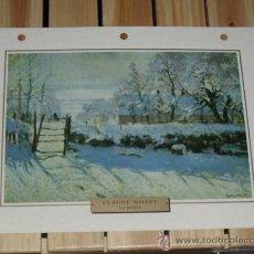 Arte: LAMINA IMPRESIONISMO CLAUDE MONET - LA URRACA -- FRANCIA 1868-1869. Lote 28142494