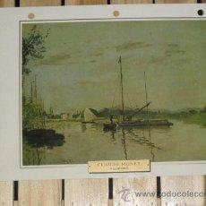 Arte: LAMINA IMPRESIONISMO CLAUDE MONET - ARGENTEUIL -- FRANCIA 1872. Lote 28143914
