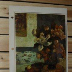 Arte: LAMINA IMPRESIONISMO PAUL GAUGUIN - NATURALEZA MUERTA CON MANDOLINA -- FRANCIA 1885. Lote 28144130