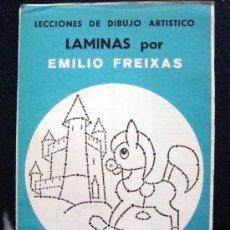 Arte: 1968 EMILIO FREIXAS 12 LECCIONES DE DIBUJO ARTÍSTICO, INICIACIÓN S. AZUL A1 . Lote 93331639