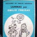Arte: 1968 EMILIO FREIXAS 12 LECCIONES DE DIBUJO ARTÍSTICO, INICIACIÓN S. AZUL A6. Lote 93331468