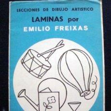 Arte: 1968 EMILIO FREIXAS 12 LECCIONES DE DIBUJO ARTÍSTICO, INICIACIÓN S. AZUL A7. Lote 93331522
