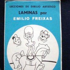 Arte: 1968 EMILIO FREIXAS 12 LECCIONES DE DIBUJO ARTÍSTICO, INICIACIÓN S. AZUL A10. EL CIRCO. Lote 93331757