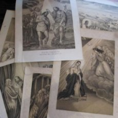 Arte: 7 LAMINAS LITOGRAFICAS DE INSPIRACION POPULAR, S.XIX DIVERSOS MOTIVOS. Lote 28509656