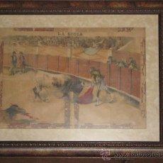 Arte: GRAN LAMINA DE LA LIDIA - MIDE CON EL MARCO 74X59 - MUY DECORATIVA PARA AFICIONADOS A LA TAUROMAQUIA. Lote 28636543