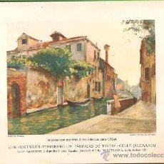 Arte: LÁMINA- * CANAL EN VENECIA - MAX RABES * FABRICA TINTAS HOSTMANN STEINBERG. Lote 28946415