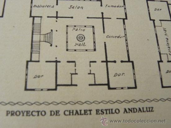 Arte: 5 Lamina Arquitectura antigua plano estilo Catalán,castellano montañés Andaluz Ed. Casellas Moncanut - Foto 5 - 29155648