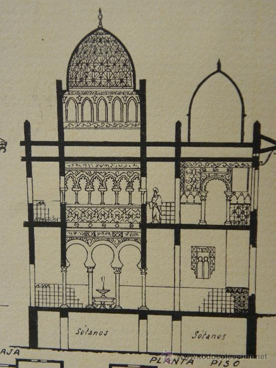 Arte: 5 Lamina Arquitectura antigua plano estilo Catalán,castellano montañés Andaluz Ed. Casellas Moncanut - Foto 6 - 29155648