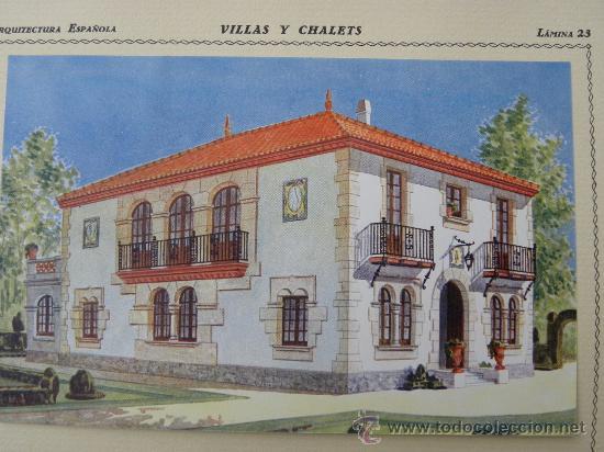 Arte: 5 Lamina Arquitectura antigua plano estilo Catalán,castellano montañés Andaluz Ed. Casellas Moncanut - Foto 9 - 29155648