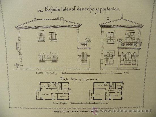 Arte: 5 Lamina Arquitectura antigua plano estilo Catalán,castellano montañés Andaluz Ed. Casellas Moncanut - Foto 10 - 29155648