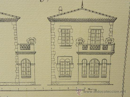 Arte: 5 Lamina Arquitectura antigua plano estilo Catalán,castellano montañés Andaluz Ed. Casellas Moncanut - Foto 11 - 29155648