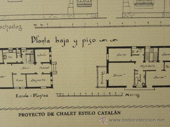Arte: 5 Lamina Arquitectura antigua plano estilo Catalán,castellano montañés Andaluz Ed. Casellas Moncanut - Foto 12 - 29155648